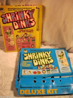I looooved these! SHRINKY DINKS color them, bake them, they shrink and the kitchen smells wretched the rest of the day. What fun! 1970s Toys, Retro Toys, Vintage Toys 1970s, Vintage Ads, 1980s, 1970s Childhood, Childhood Toys, My Childhood Memories, Childhood Friends