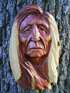 ...Native American carving by Gordon...