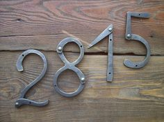 Designeru0027s House Number /Iron House Numbers 5 Inches/Door