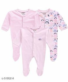 Oneseis & Rompers  Fancy 100% Cotton Kid's Rompers (Pack Of 3) Fabric: 100% Cotton Sleeves: Full Sleeves Are Included Size: Age Group (0 Months - 3 Months) - 10 in Age Group (3 Months - 6 Months) - 12 in Age Group (6 Months - 9 Months) - 12 in Age Group (9 Months - 12 Months) - 14 in Type: Stitched Description: It Has 3 Pieces Of Kid's Rompers Pattern & Work  :Solid & Striped & Printed Country of Origin: India Sizes Available: 0-3 Months, 3-6 Months, 6-9 Months, 9-12 Months, 12-18 Months   Catalog Rating: ★4.3 (4142)  Catalog Name: Doodle Fancy 100% Cotton Kid's Rompers Combo Vol 2 CatalogID_624895 C62-SC1159 Code: 665-9186214-6051