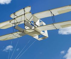 Rule the skies with the turn of the century inspired Wright brothers plane kite. Thanks to renowned kite artist Joel Sholz, you can now take to the skies with...
