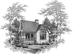 Cabin Cape Cod House Plan 93422 Elevation