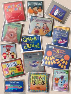 listing of 50+ books usable for teaching math - especially for preschoolers