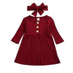 US Newborn Toddler Baby Girl Christmas Party Pageant Tutu Princess Dress Clothes Dance Outfits, Dress Outfits, Girl Outfits, Dress Clothes, Matching Outfits, Matching Clothes, Long Sleeve Cotton Dress, Casual Party Dresses, Baby Girl Christmas