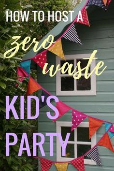The night before my eighth birthday I barely slept. The anticipation of the party the next day was too much for little imagination to take. If kids nowadays are anything like I was, then parties are a BIG DEAL. We obviously want to make our kids' parties Kid Party Favors, Party Bags, Birthday Party Decorations, Eco Kids, Childrens Party, Zero Waste, Party Planning, Party Time, Kids Nowadays