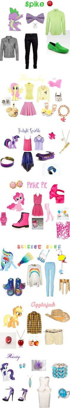 Outfits inspired by the characters of My Little Pony, I dress like a mixture of fluttershy, twilight sparkle and pinky pie