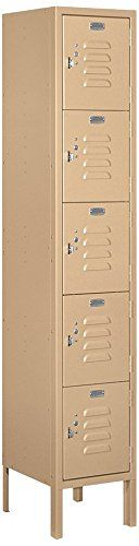 Salsbury Industries 65152TN-U Five Tier Box Style 1-Inch Wide 5-Feet High 12-Inch Deep Unassembled Standard Metal Locker, Tan Brown >>> You can find more details by visiting the image link.