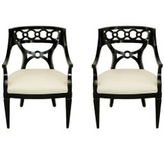 louis 14 chair taupe silk and black lacquer - Google Search