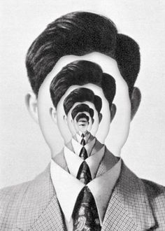 Creating depth of field with portraiture, incredible. A simple self portrait with the facial features removed could be a creative image to re-create. Psychedelic Art, Photomontage, Digital Collage, Collage Art, Collages, Dada Collage, Pop Art, Montage Photo, Photoshop