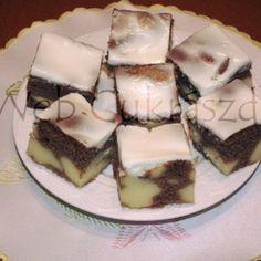 Mákos bejgli szelet Izu, Pudding, Desserts, Food, Tailgate Desserts, Deserts, Custard Pudding, Essen, Puddings