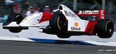 formula 1 Mika Haikinen , gettn' some SERIOUS Air , Australian GP , 1994