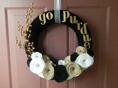 Cute Purdue door wreath