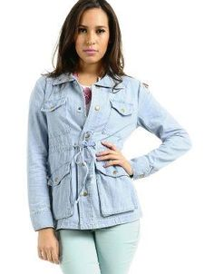 (CLICK IMAGE TWICE FOR DETAILS AND PRICING) Eleni Spring Parka Jacket Denim. Your closet will give a warm welcome to this go-to spring jacket. Wear it over slim cut pants or jeans, a slouchy top and ankle booties, or over a printed dress for a trendier look.. See More Coats and Jackets at http://www.ourgreatshop.com/Coats-and-Jackets-C76.aspx