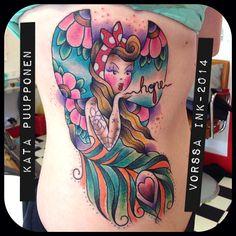 https://www.facebook.com/VorssaInk, http://tattoosbykata.blogspot.fi, #tattoo #tatuointi #katapuupponen #vorssaink #forssa #finland #traditionaltattoo #suomi #oldschool #pin up #fairy