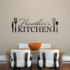 Kitchen Wall Decal  Personalized Name by StephenEdwardGraphic
