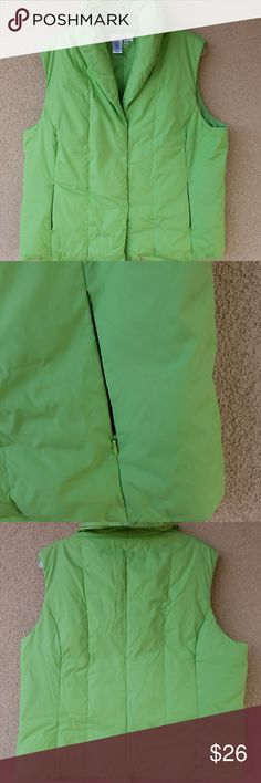 Coldwater Creek Vest XL Coldwater Creek Green puffer vest size XL. Good condition. Coldwater Creek Jackets & Coats Vests
