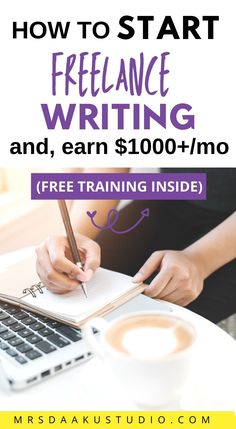 Freelance writing for beginners: How To Become A Freelance Writer Even You Have No Experience #freelance #makemoneyonline #makemoneyfast #makemoneyonline Work From Home Options, Work From Home Careers, Online Jobs From Home, Legitimate Work From Home, Ways To Earn Money, Earn Money From Home, Make Money Fast, Writing Portfolio, Freelance Writing Jobs
