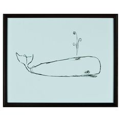 Whale Framed Print, go with andy's nursery