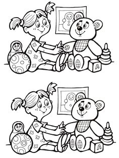задание 9 Free Preschool, Preschool Worksheets, Preschool Learning, Kindergarten Activities, Early Education, Kids Education, Find The Difference Pictures, Games For Kids, Activities For Kids