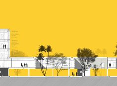 Fine lines and pure color background are good match Gallery of Minor Charges Court Building Proposal / ABA - 13