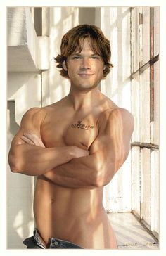 Gotta love the Jensen tattoo :P #NOTJaredPadalecki #manip #photoshopped