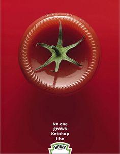 publicidad minimalista de Heinz.