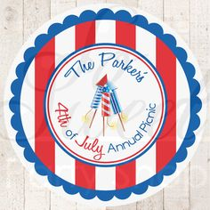 4th of July Stickers  Fourth of July Sticker by sosweetpartyshop