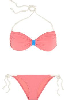 Solid and Striped + Poppy Delevingne halterneck bikini | NET-A-PORTER