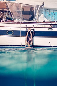 Girl Overboard – Daria Werbowy reunites with Cass Bird for a free-spirited shoot set in vacation hot spot, St. Captured for T Magazine's summer travel… Daria Werbowy, Summer Of Love, Summer Fun, Summer Travel, Summer Dream, Pink Summer, Summer 2014, Summer Days, Home Fashion
