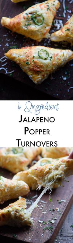 Jalapeno popper turnovers are the perfect easy appetizer recipe! The cheesy filling is mixed with bacon and jalapeño and then wrapped in store bought puff pastry. I always get asked for the recipe!