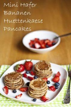 Mini Hafer Bananen Hüttenkäse Pancakes   Mein Kleiner Gourmet