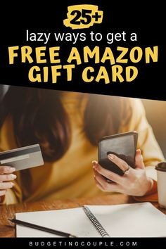 Do you love shopping on amazon? Looking for an easy way to get money for Christmas presents? Check out these easy tips for how to get a free amazon gift card in your spare time! This money frugal hack could help you save money every time you shop amazon. Budgetingcouple.com #freegiftcard #moneysavinghack #savemoney