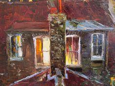 'London by Night' by Gleb Goloubetski Oil on Canvas 60cm x 100cm