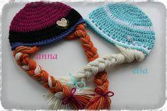 Elsa & Anna hats https://www.etsy.com/listing/182054777/crochet-frozen-anna-and-elsa-inspired