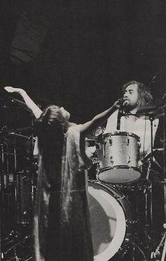 Stevie Nicks with Mick Fleetwood