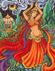 Indian dancer #india #paint #dancer