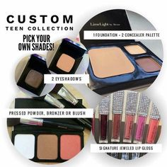 TEEN COLLECTION, LimeLight by Alcone. This custom collection was created with teens and those who prefer a very natural makeup look. The collection includes a Botanical Foundation, one Perfect Blush, Pressed Powder or Bronzer, two Complete Concealers, two Perfect Eyeshadows, and one of our Signature Lip Glosses. Total savings for this collection is $26. www.joeeflaningan.com