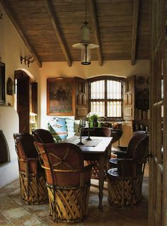 Mexican decor: equipale chairs