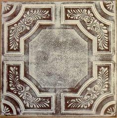 R 28 Styrofoam Ceiling Tile 20x20 - Brown Beige