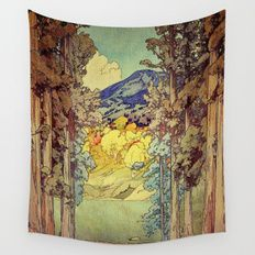 Wall Tapestry featuring Returning To Hoyi by Kijiermono