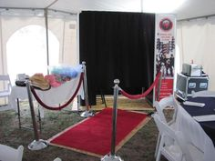 """Red Carpet Photo Booth.  Love this idea for Relay since the theme is """"Lights, Camera, Action!"""".  We could set up a red carpet area, use a plain sheet as a backdrop, and make the props ourselves.  Take pics and email them and post to our FB account!  Could ask for donations of $1 a photo."""