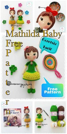 Amigurumi doll mathilda baby free crochet pattern, A wonderful amigurumi crochet toy pattern is waiting for you. Crochet Dolls Free Patterns, Crochet Doll Pattern, Amigurumi Patterns, Amigurumi Doll, Doll Patterns, Free Crochet, Baby Cocoon Pattern, Crochet Baby Cocoon, Doll Videos