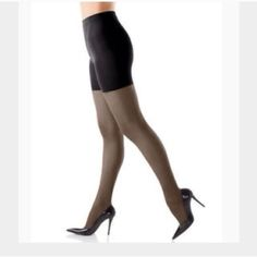 """SPANX All The Way Tummy 2 Toes Full Length  size A SPANX All The Way Tummy to Toes Full Length  size A will slim your tummy, hips, thighs and rear. Product Features: Black color  sheer pantyhose. Medium control. Flawless legs for flair. Smoothes tummy, hips, thighs and rear comfy, non-binding waistband Cotton gusset may be worn as underwear 81% Nylon, 19% Lycra Spandex/Elastane. Avoid visible panty lines. Invisible reinforced toe. Size A is meant to be worn by women ranging from 4""""10-5""""5 and…"""