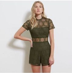 Sheer perfection! Our Roysta Playsuit in Khaki is now available online!