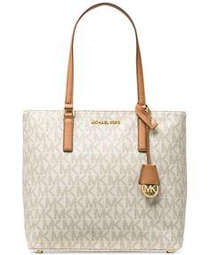 e841bb2d1562b7 MICHAEL Michael Kors Medium Morgan Tote in Signature Print & Reviews -  Handbags & Accessories - Macy's