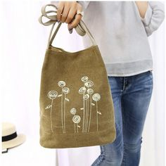 Canvas Ladies Bucket Hand Bags