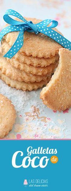 Rica receta de Galletas de Coco para compartir con tus familiares, fácil y rápidas de hacer !!