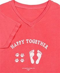 Love this shirt....comfortable, pre-washed - lasts forever.. www.BuddysPetStop.com