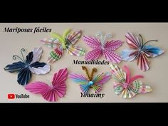 MANUALIDADES YONAIMY - YouTube Diy Projects To Try, Origami, Ladybug, Paper Crafts, Butterfly, Handmade, Youtube, Videos, Frases