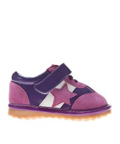 Take a look at this Purple Star Squeaker Sneaker by littlebluelamb squeaky shoes on #zulily today!